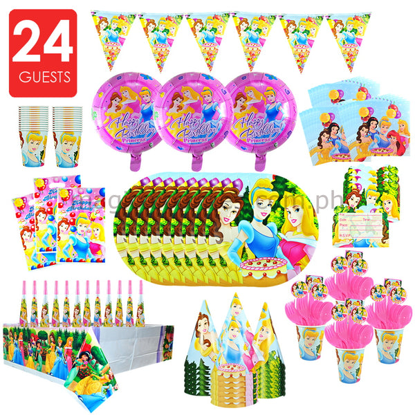 DISNEY PRINCESS Party Kit Premium Set for 24 Guests