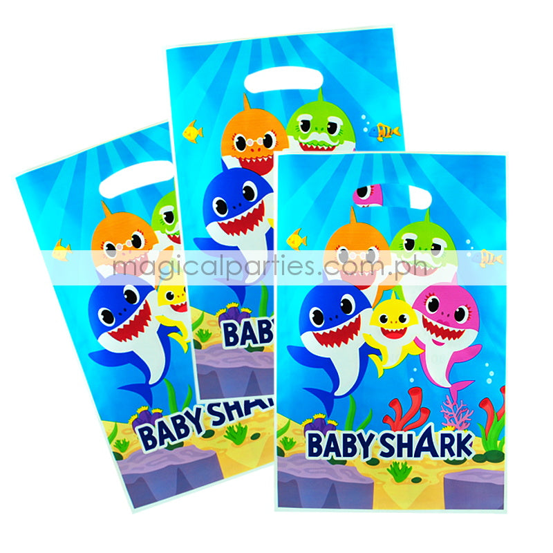 BABY SHARK 6pc Party Gift Bags Set