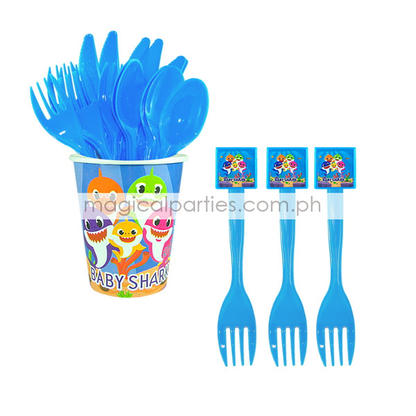 BABY SHARK 6pc Party Fork Set