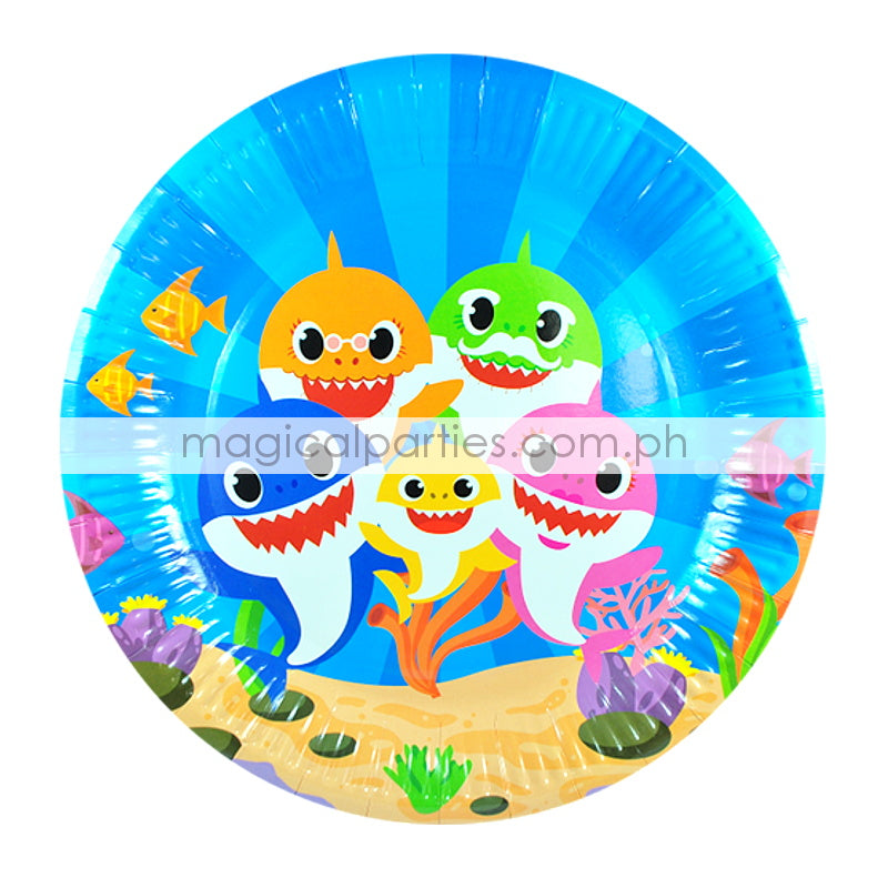 BABY SHARK 6pc Party Plates Set