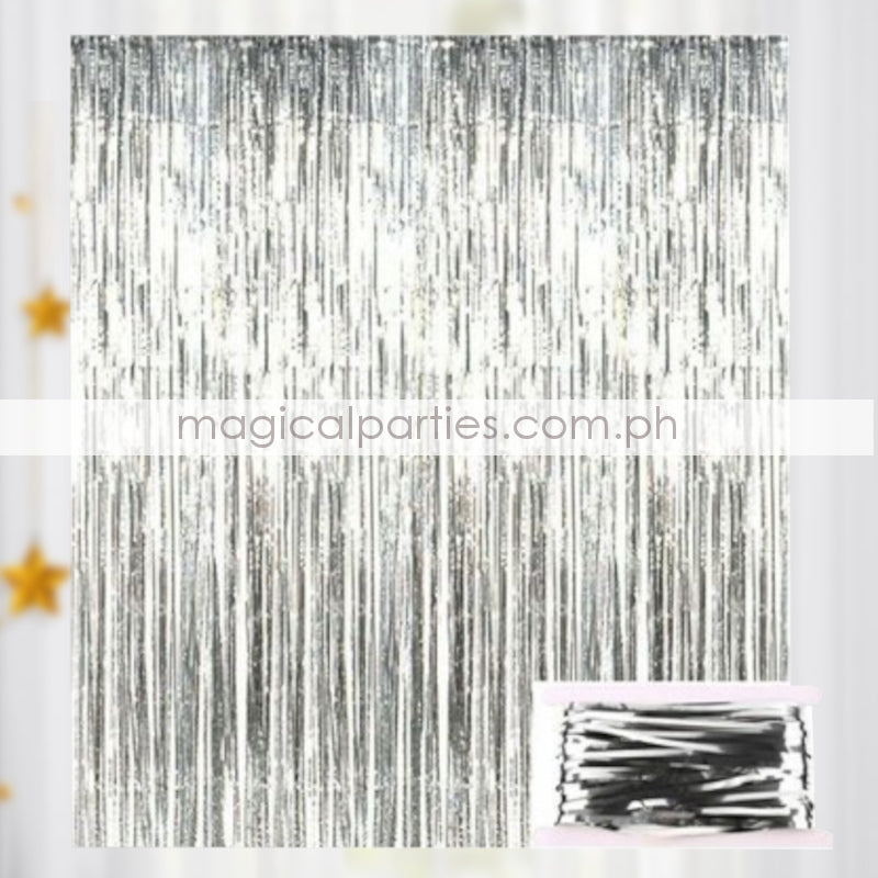 ADD ONS Foil Curtain Silver