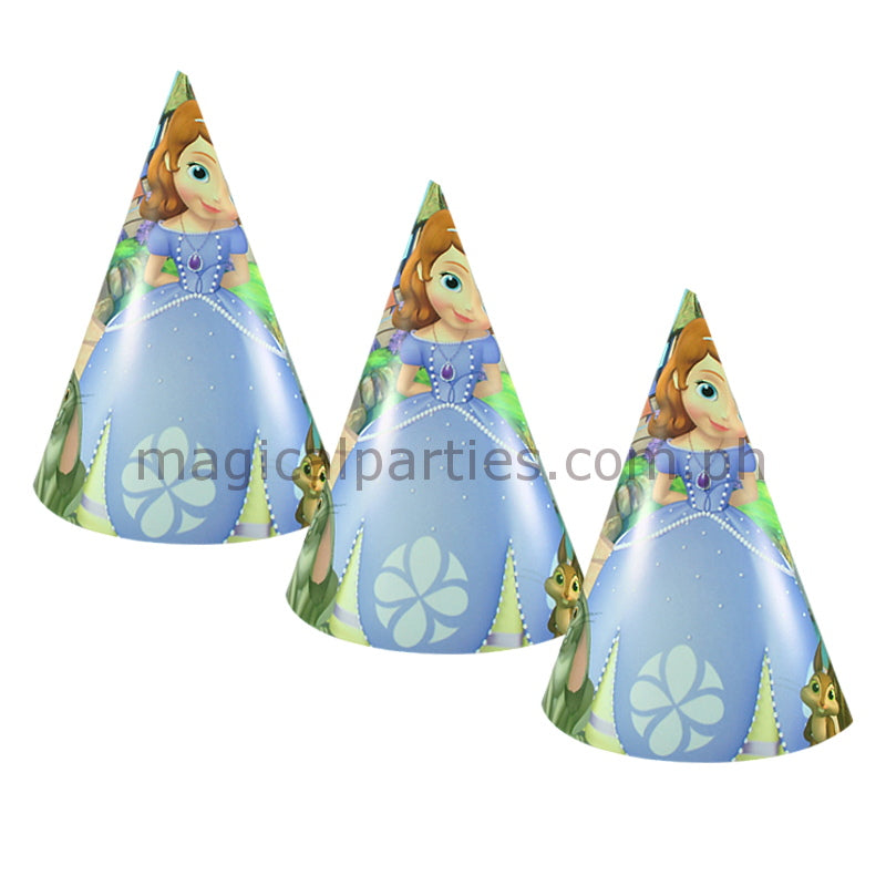 SOFIA THE FIRST (PURPLE) 6pc Party Hats Set