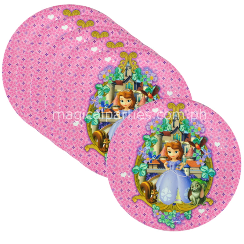 SOFIA THE FIRST 6pc Party Dessert Plates Set