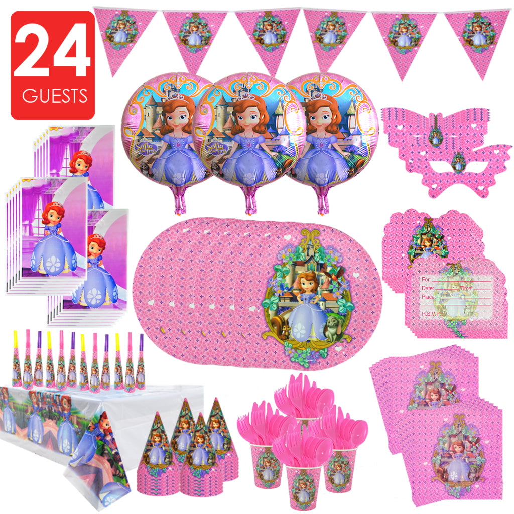 SOFIA THE FIRST Party Premium Set For 24 Guests