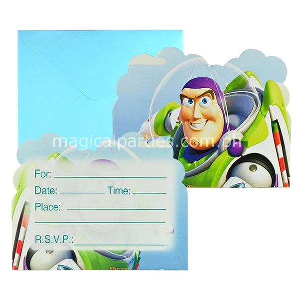 TOYS STORY 6pc Party Invitations Set