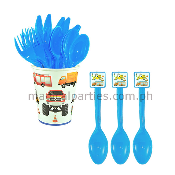 TRUCKS 6pc Party Spoon Set