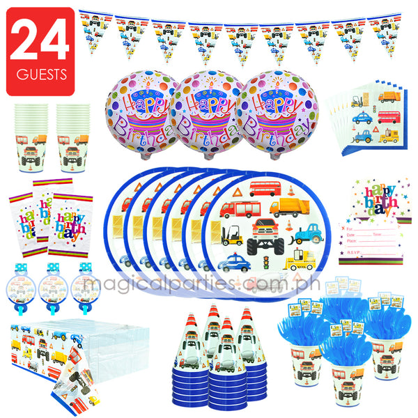 TRUCKS Party Kit Premium Set for 24 Guests
