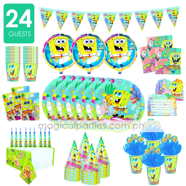 SPONGEBOB Party Kit Premium Set for 24 Guests