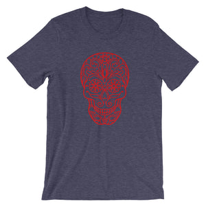 Dia De Los Muertos Red Skull Day Of The Dead T-Shirt
