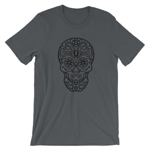 Dia De Los Muertos Black Skull Day of the Dead T-Shirt