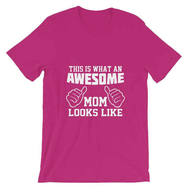 The Vilee Berry / S Mothers Day T-Shirt gift. This Is What An Awesome Mom Looks Like. Funny Mom Shirt