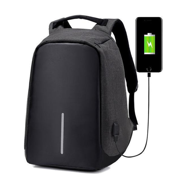 The Vilee black Anti Theft Laptop Backpack (USB Charger, Water Proof & Cut Proof)