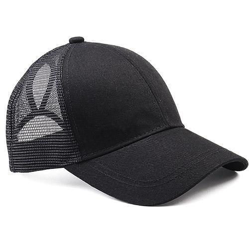 The Vilee black High Ponytail Baseball Cap