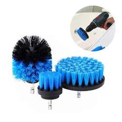 The Vilee Blue Power Scrubber Brush Drill Attachment  (3 Piece Set)