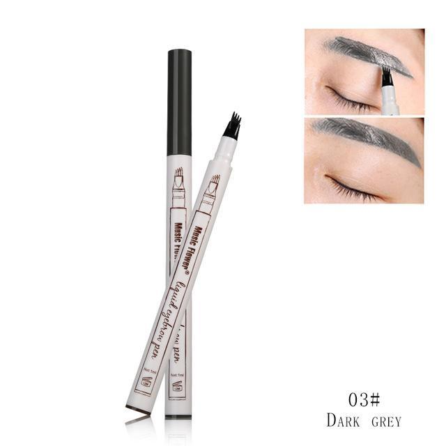 The Vilee Dark Grey Waterproof Eyebrow Microblading Pen