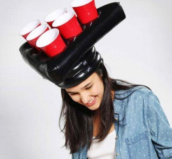 The Vilee Inflatable Beer Pong Hat