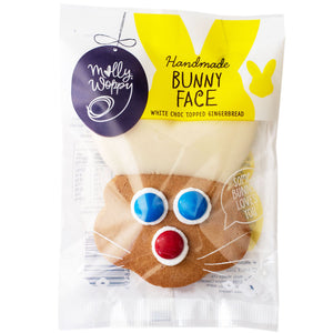 White Chocolate Dipped Bunny Gingerbread Cookie
