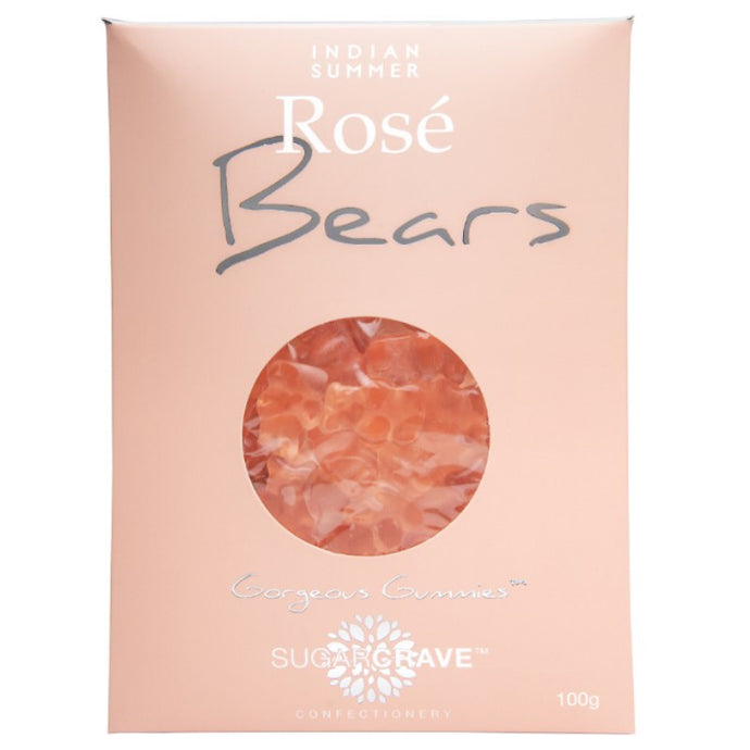 Rosé and champagne gummy bears