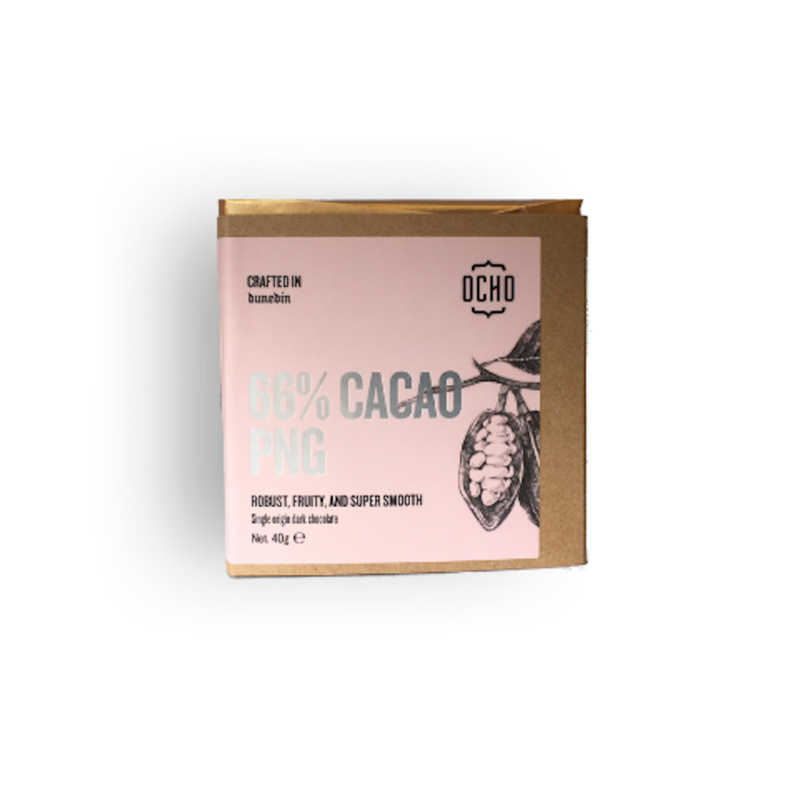 Ocho Chocolate 66% cacao PNG chocolate