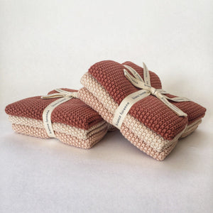 Bianca Lorenne knitted wash cloth set