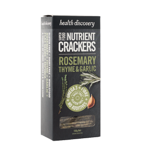 Health Discovery Crackers- Rosemary, Thyme and Garlic