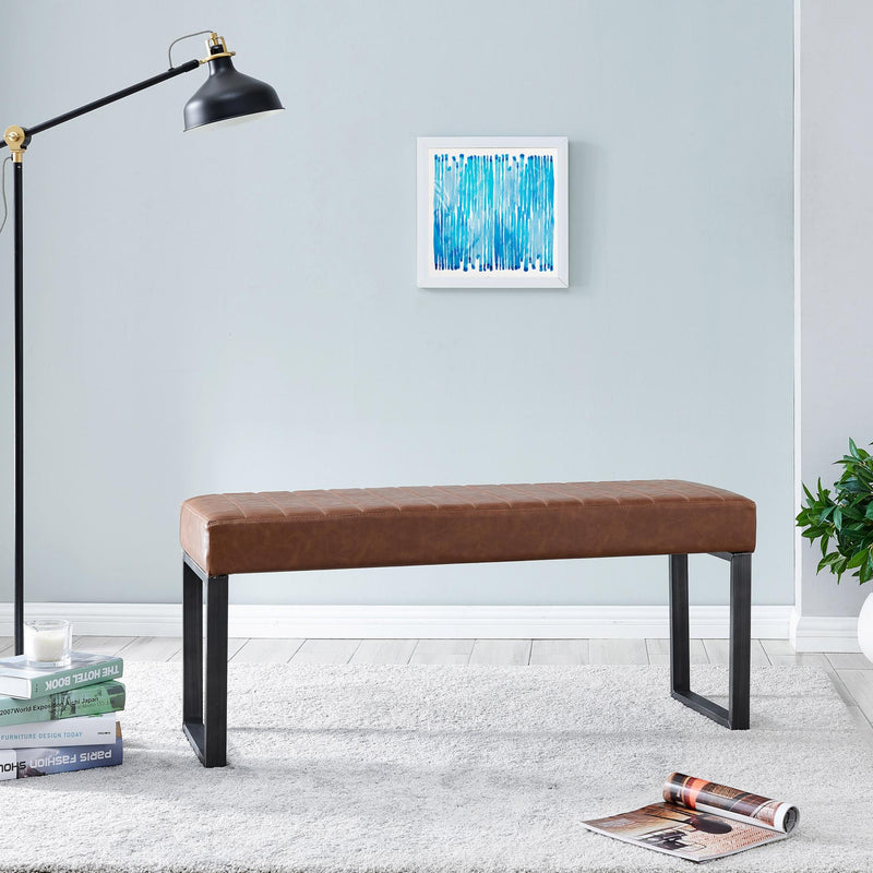Jasper Faux Leather Bench - What A Room