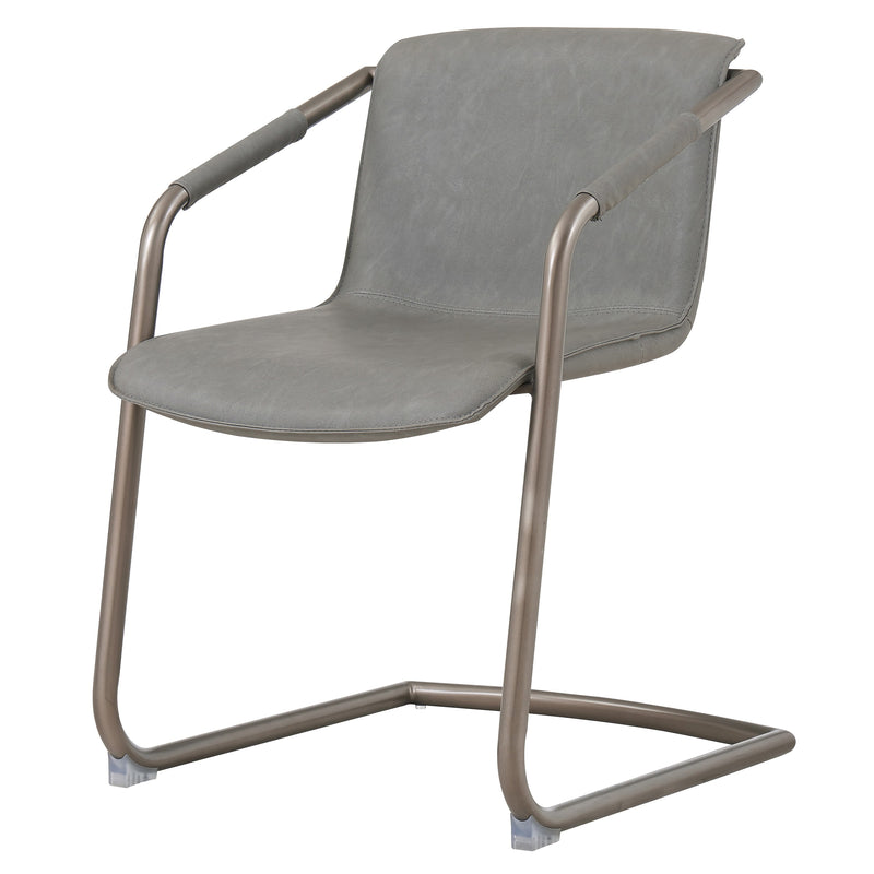 Indy PU Side Chair Rubbed Gold Frame