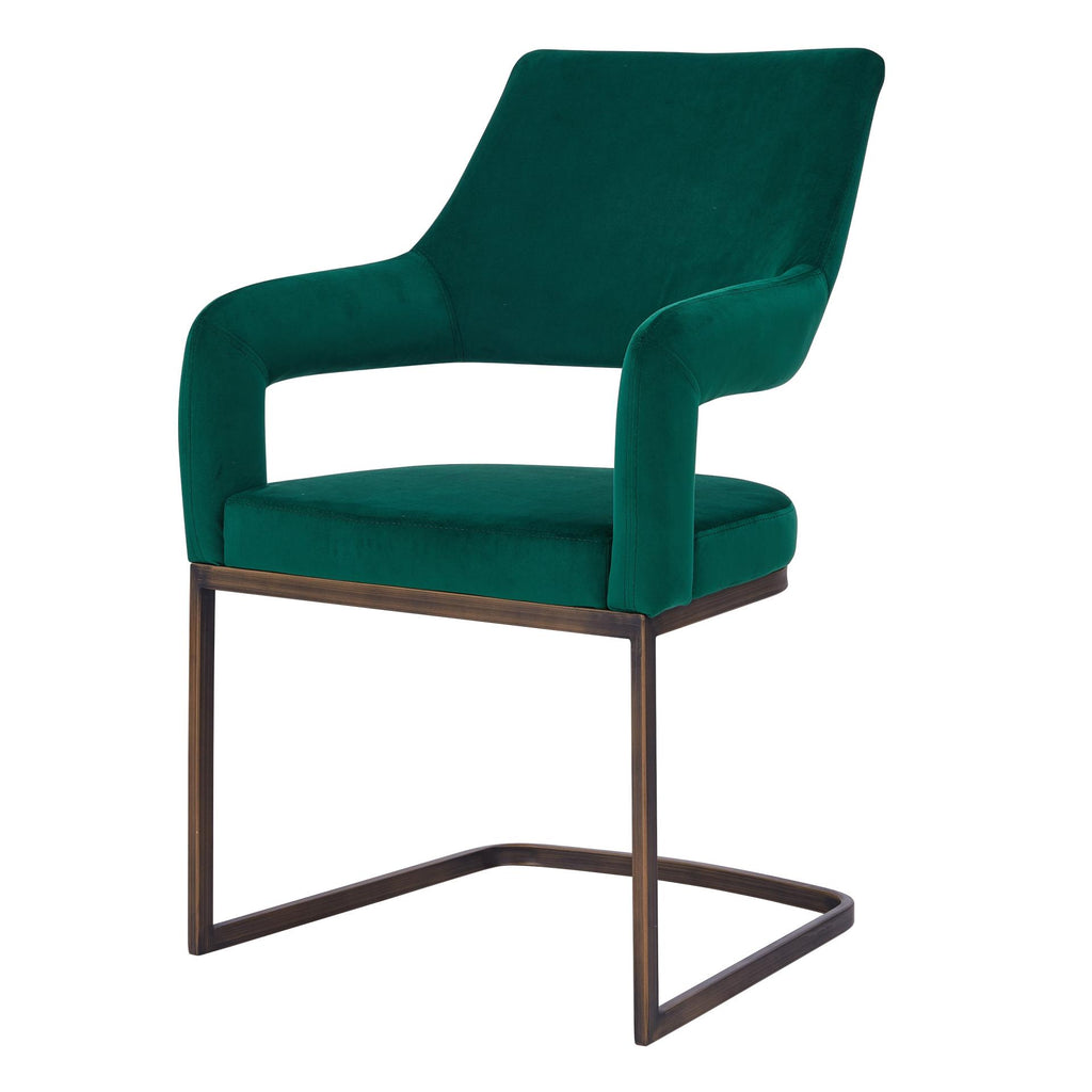 Raquel KD Velvet Fabric Chair - What A Room Furniture