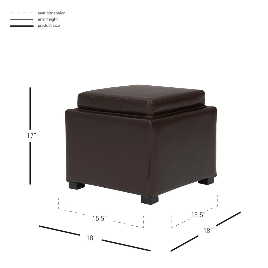 Cameron Square Leather Ottoman - What A Room Furniture