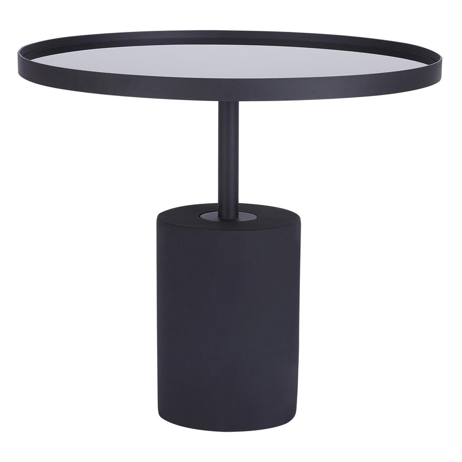 Terrific Samara Kd End Table Glass Top With Black Concrete Base Home Interior And Landscaping Eliaenasavecom