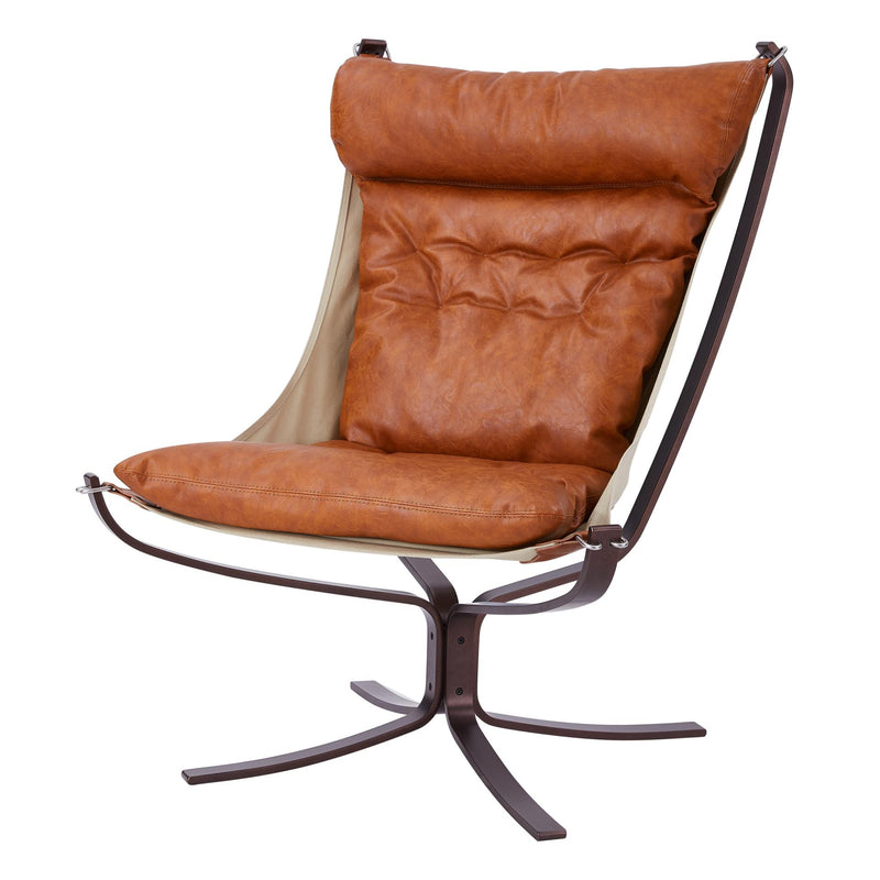 Reese KD PU Swivel Accent Chair