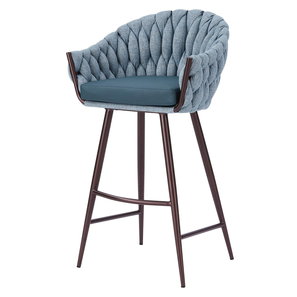 Fabian KD Fabric/ PU Bar Stool