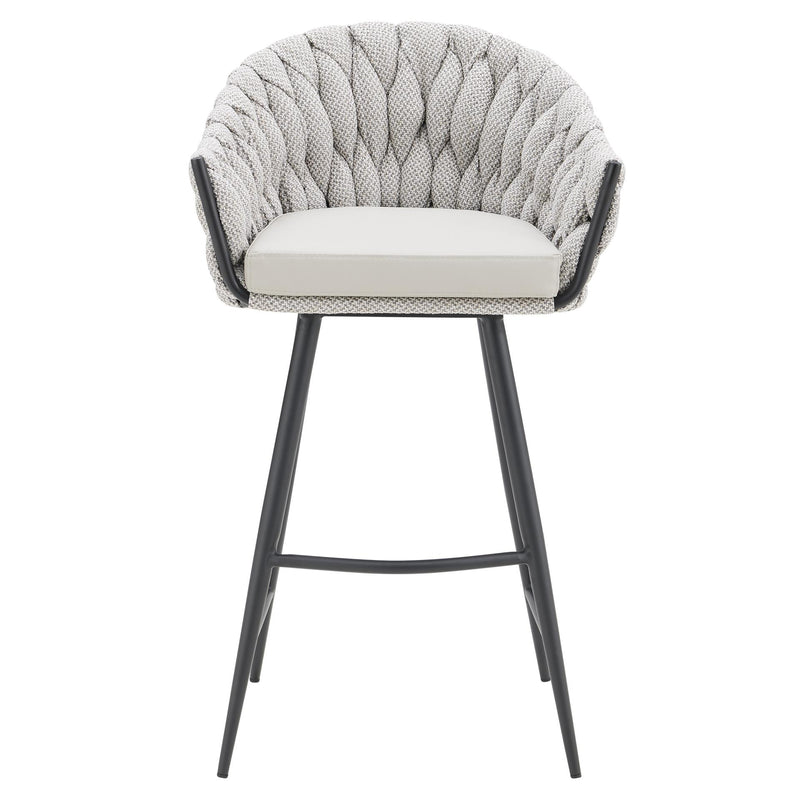 Fabian Fabric/ Faux Leather Bar Stool - What A Room