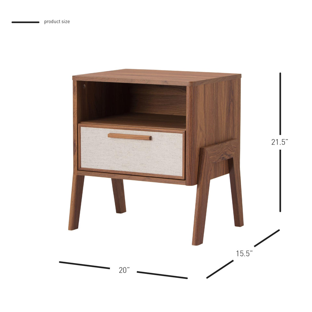 Heaton Side Table 1 Drawer - What A Room Furniture