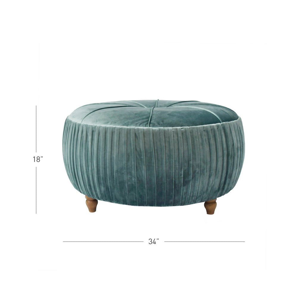 Helena Round Ottoman - What A Room Furniture