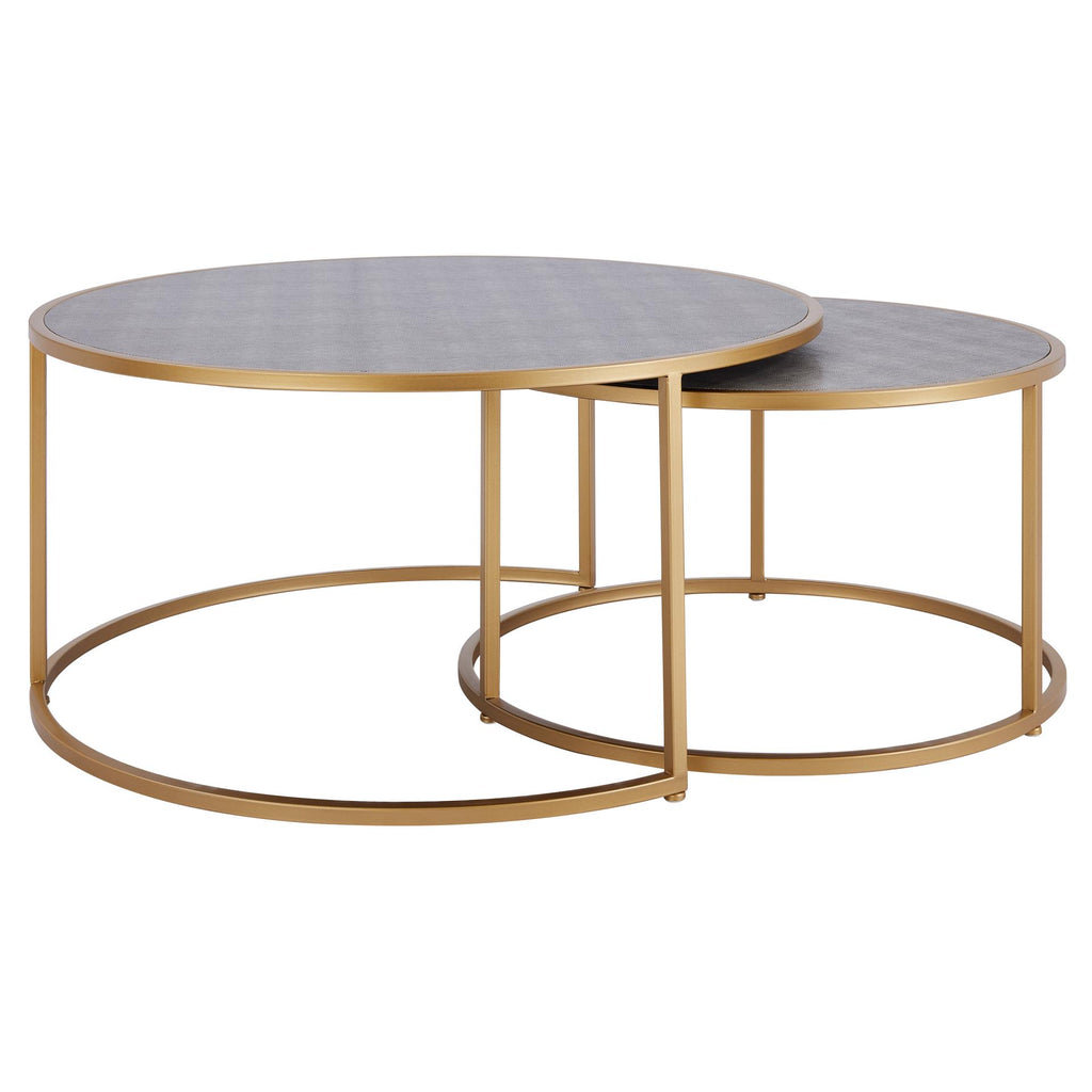 Anza Faux Shagreen Nesting Coffee Table Set of 2