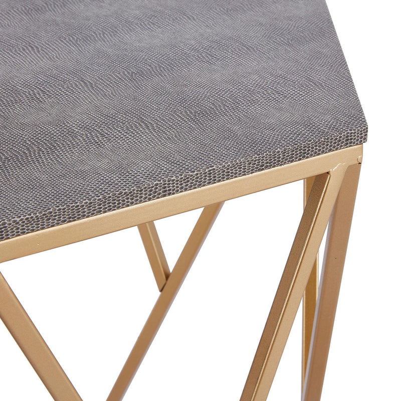 Cressa Faux Shagreen End Table - What A Room Furniture