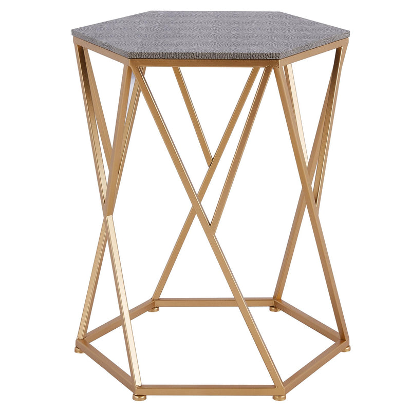 Cressa Faux Shagreen End Table