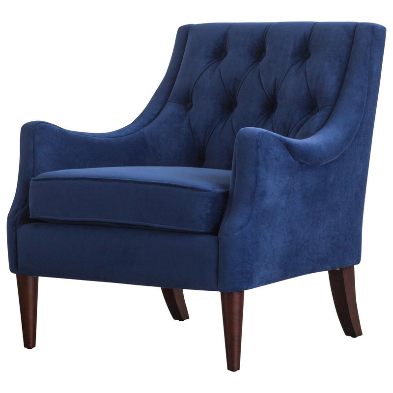 Marlene KD Velvet Fabric Tufted Accent Chair