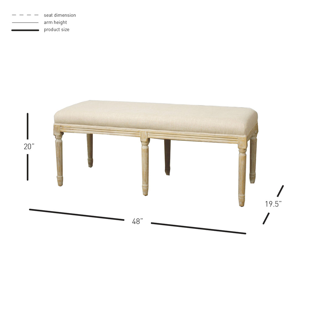 Madeline Bench - What A Room Furniture
