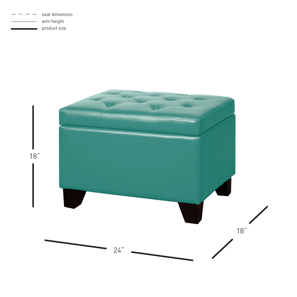 Julian Rectangular Bonded Leather Storage Ottoman - What A Room Furniture