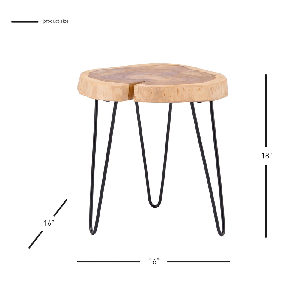 Ares Teak End Table - What A Room Furniture