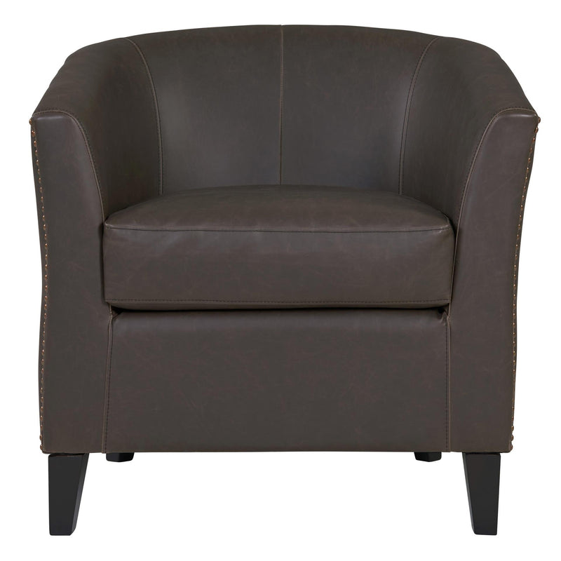 Orson Bonded Leather Accent Arm Chair Black Legs - What A Room