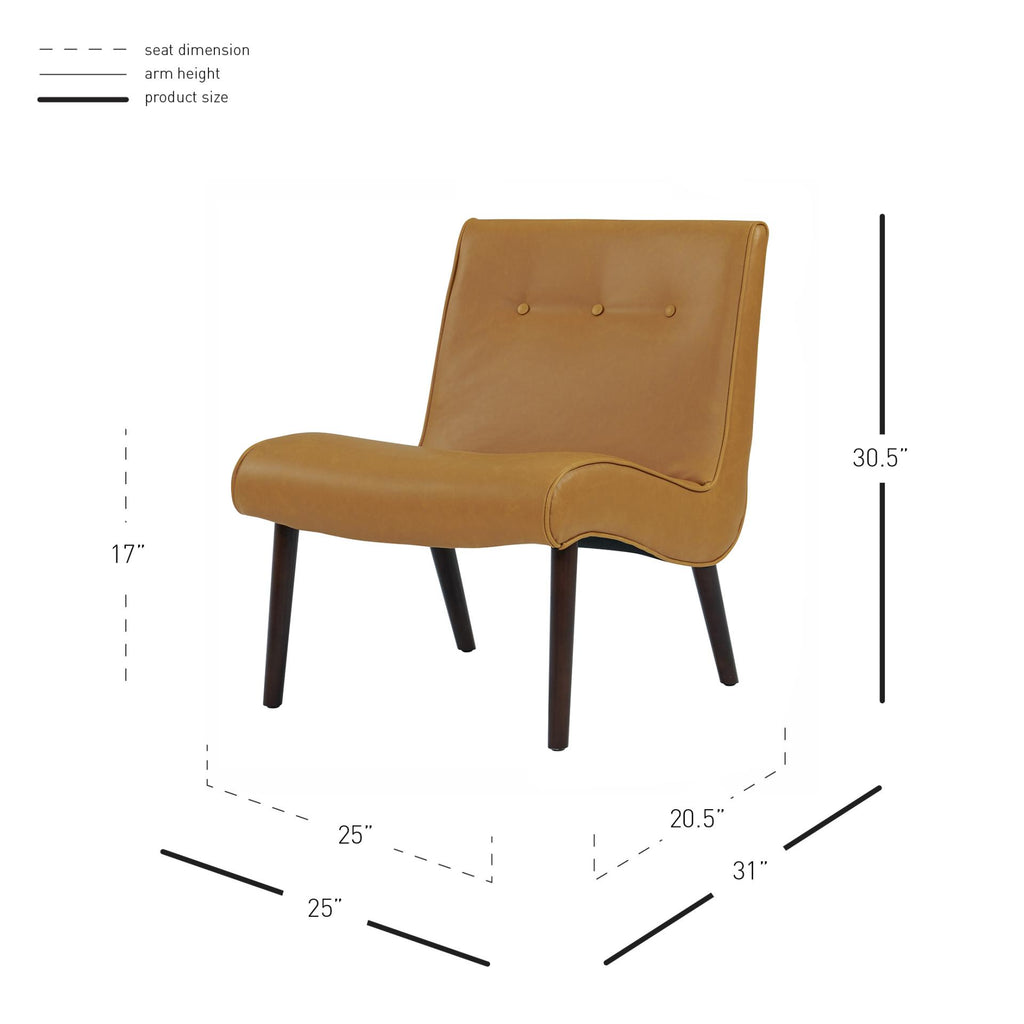 Alexis Bonded Leather Chair - What A Room Furniture