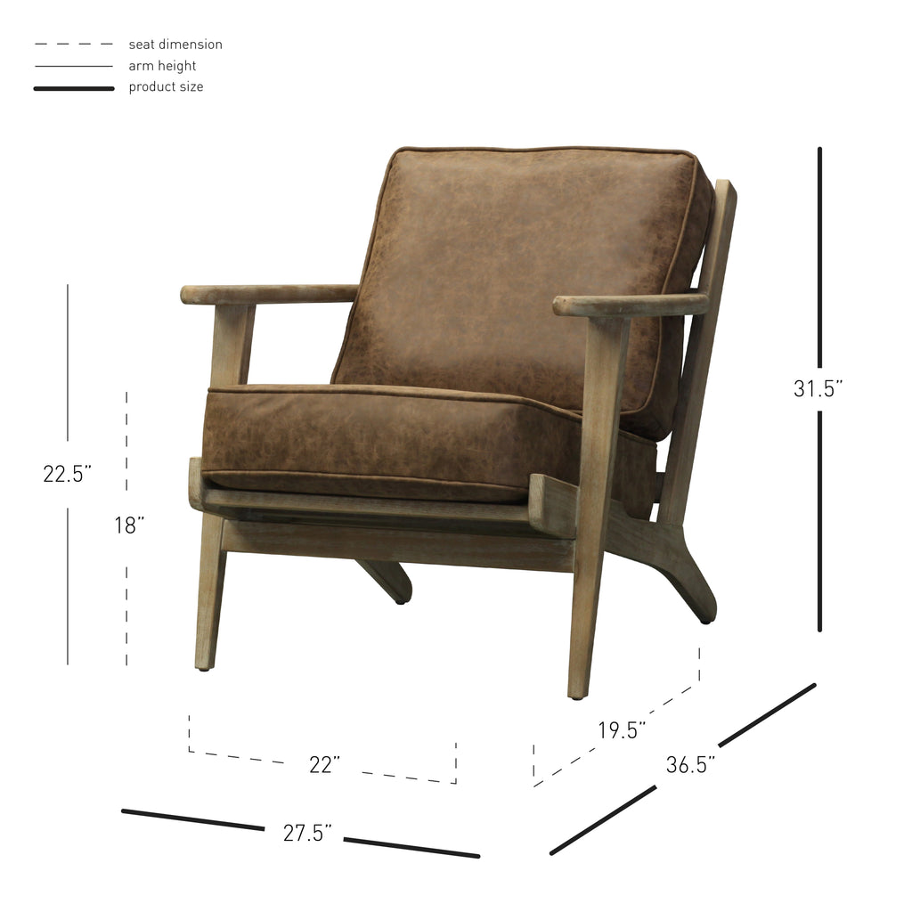 Albert PU Accent Chair - What A Room Furniture