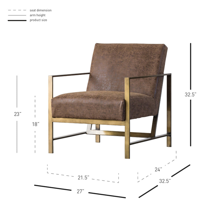 Francis PU Arm Chair