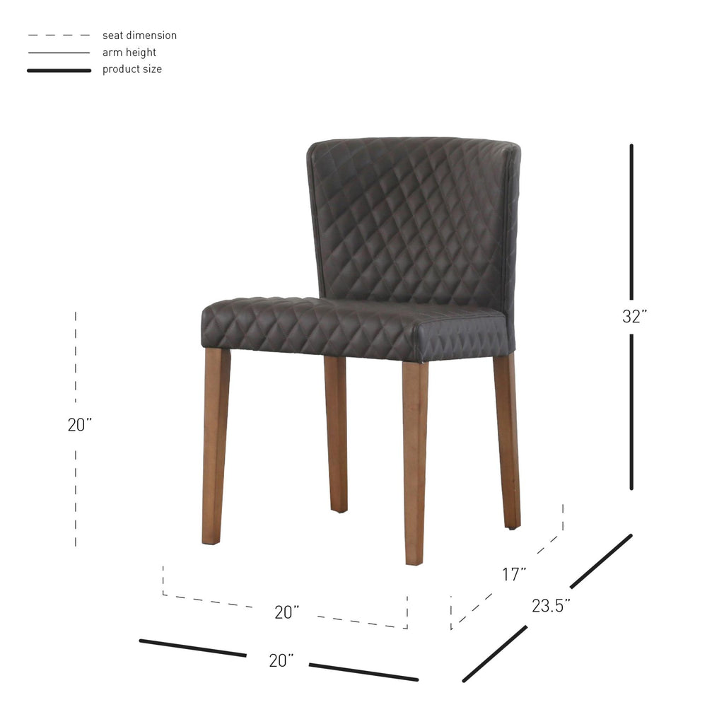Albie Diamond Stitching PU Chair - What A Room Furniture