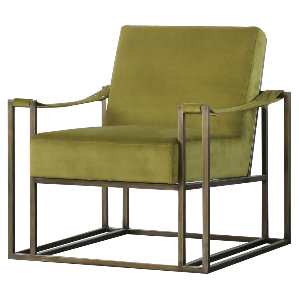 Esmond  Velvet Fabric Arm Chair