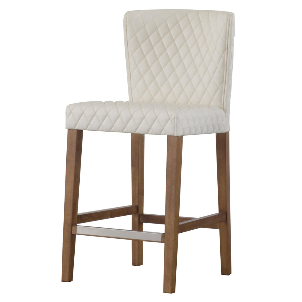 Albie Diamond Stitching PU Counter Stool - What A Room Furniture