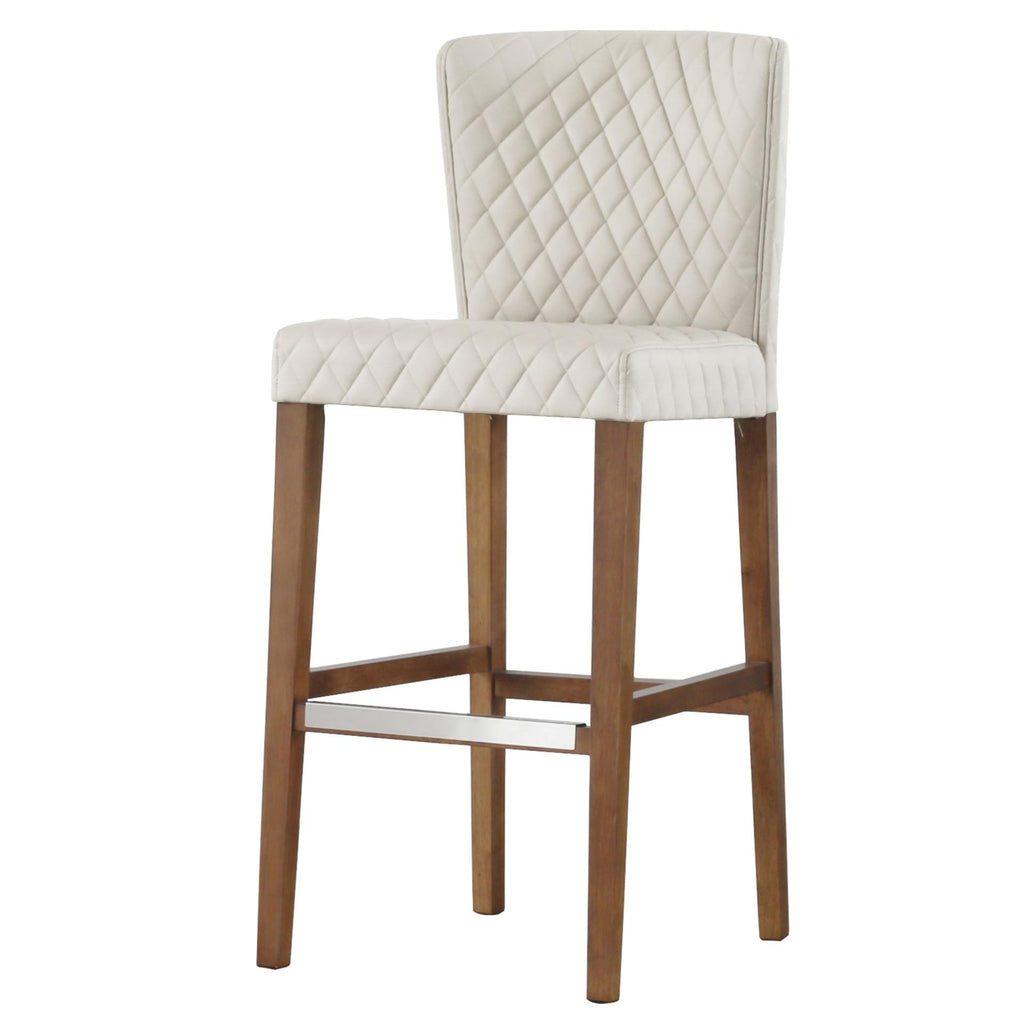 Albie Diamond Stitching PU Bar Stool - What A Room Furniture